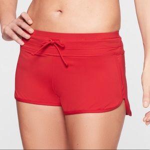 Athleta Red Swim Shorts